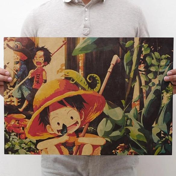 Vintage Classic One Piece Poster Wall Art - AnimePowerStore