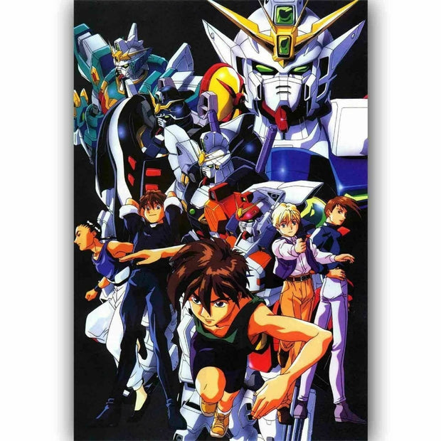 Gundam Wing Anime Silk Fabric Wall Art - AnimePowerStore