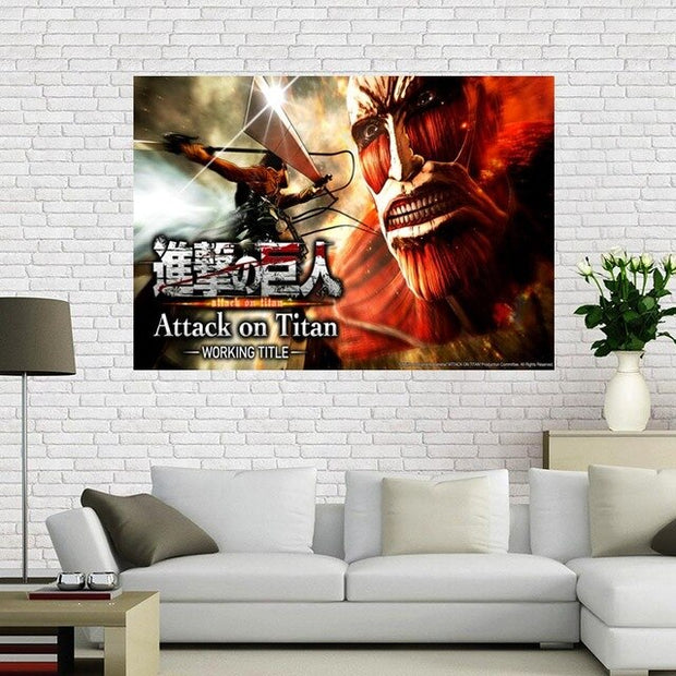 Attack on Titan Silk Canvas Wall Art - AnimePowerStore