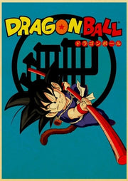 Vintage Dragon Ball Movie Poster Wall Art - AnimePowerStore