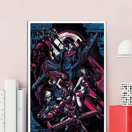 Cowboy Bebop Anime Decorative Wall Art - AnimePowerStore