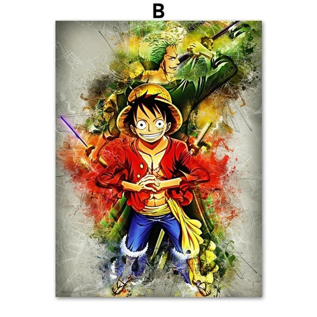 One Piece Comic Poster Wall Art - AnimePowerStore
