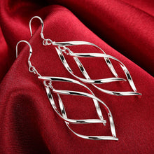 Load image into Gallery viewer, Silver Earrings - Double Leaf