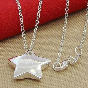 Silver Necklace - Star