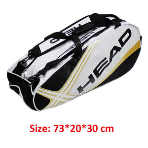 Head Racket Bag Badminton Tennis Double Shoulder With Shoe Bag Can Hold 6-9 Rackets Sports Training Backpack Men Women Squash