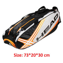 Charger l'image dans la galerie, Head Racket Bag Badminton Tennis Double Shoulder With Shoe Bag Can Hold 6-9 Rackets Sports Training Backpack Men Women Squash