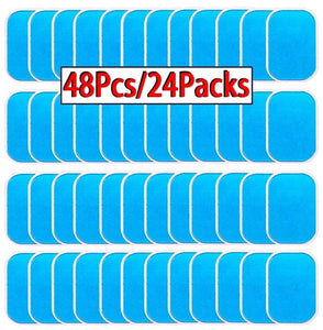 48 Pcs Gel Pads For EMS Abdominal Trainer Muscle Stimulator Exerciser Slimming Machine Accessories