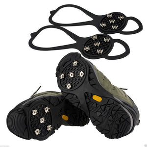 Mounchain Anti-Slip Skiing Shoes Cover Climbing Spikes Grips 5 Teeth Crampon Shoes Cleats for skating Snowy Road