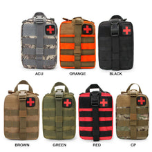 Charger l'image dans la galerie, 2020 Tactical Waist Pack Camping Climbing Bag Black Emergency Case Outdoor Water First Aid Kits Travel Oxford Cloth