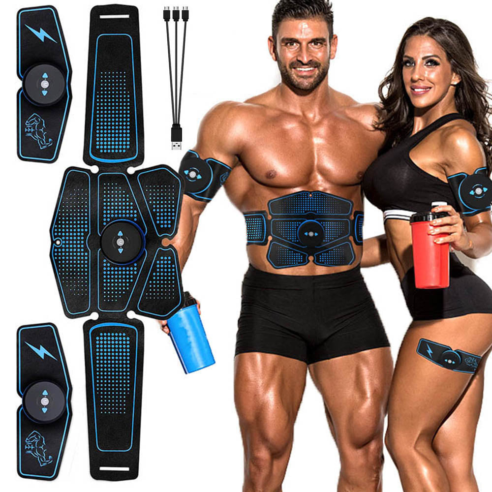 Abdominal Muscle Stimulator Trainer EMS Abs Fitness Equipment Training Gear Muscles Electrostimulator Toner Exercise At Home Gym