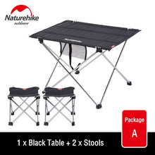 Charger l'image dans la galerie, Naturehike Collapsible Lightweight Aluminum Portable Roll Up Outdoor Folding Camping Table Patio Metal Foldable Picnic Table
