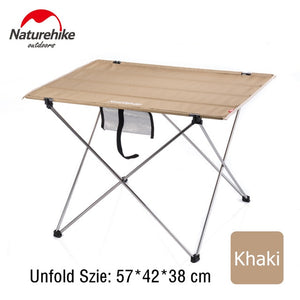 Naturehike Collapsible Lightweight Aluminum Portable Roll Up Outdoor Folding Camping Table Patio Metal Foldable Picnic Table
