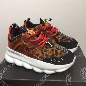 Chain Reaction sneakes designer Sneakers Mens Women sport shoes leather Casual Shoes Trainer Lightweight sole with box