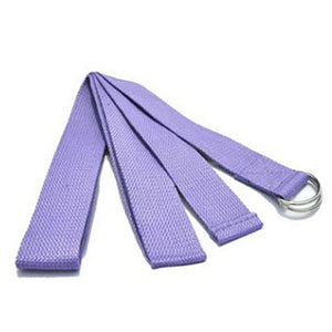 Yoga Women Stretch Strap D-Ring Belt Fitness New Multi-Colors Exercise Gym Rope Figure Waist Leg Resistance Fitness Bands Cotton