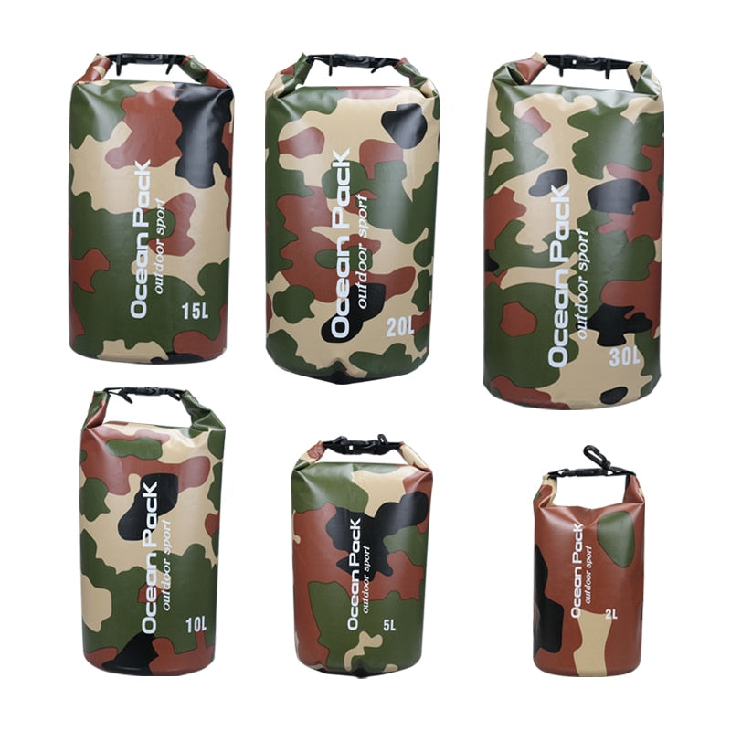 Outdoor Floating Boating Camping Water Resistant Waterproof Dry Bag SackPack River Trekking Bags 2L 5L 10L 15L 20L 30L