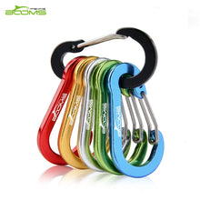 Charger l'image dans la galerie, Booms Fishing CC1 6Pcs Aluminum Alloy Carabiner Keychain Outdoor Camping Climbing Snap Clip Lock Buckle Hook Fishing Tool 6Color