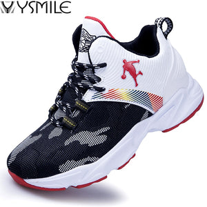 High Quality Top Soft Non-slip Kids Sneakers Thick Sole Boys Basketball Shoes Children Sport Shoes Outdoor Boy Trainer Basket
