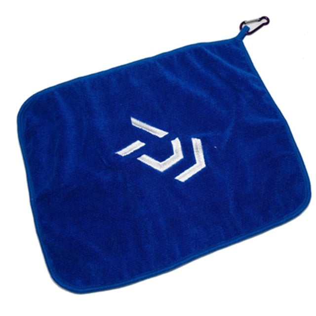 Daiwa Fishing Towel Fishing Clothing Thickening Non-stick Absorbent Outdoors Sports Wipe Hands Towel Hiking Fishing Equipment