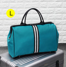 Charger l'image dans la galerie, bolsa Striped Travel Bag Gym Fitness Bags Luggage Traveling Duffle Sac De Sport Handbag For Women Men Outdoor Sports Tas XA46A