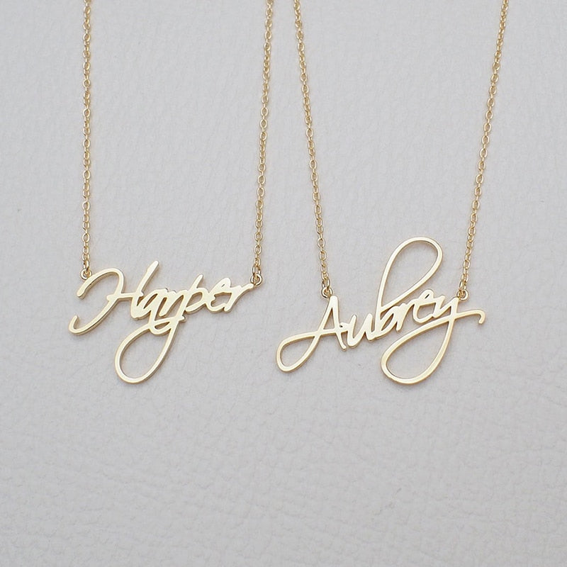 Charm Personalized Name Necklace FREE SHIPPING - DavaoShop International Gift Service - Send Gifts to your loved ones in the US, Canada, Australia and UK