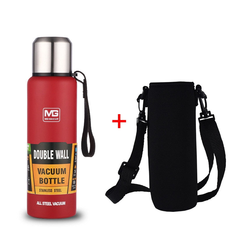 Stainless Steel Portable Vacuum Flask with Rope Thermo Bottle - DavaoShop International Gift Service - Send Gifts to your loved ones in the US, Canada, Australia and UK