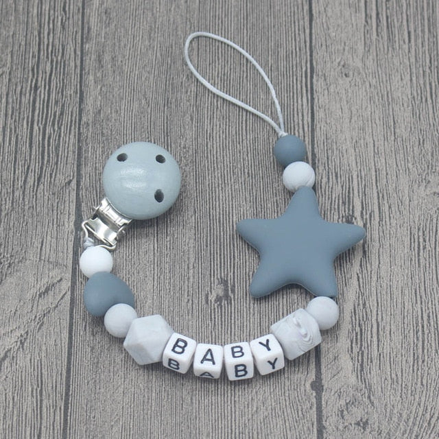 Custom Letters Wooden Pacifier Clips - DavaoShop International Gift Service - Send Gifts to your loved ones in the US, Canada, Australia and UK