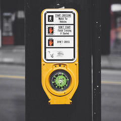 Greek-Key from Betty's Promos Plus Prevents Contact with Germs on Crosswalk Buttons