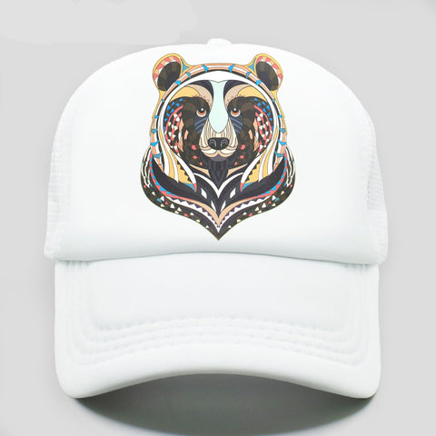 casquette trucker ours - blanche