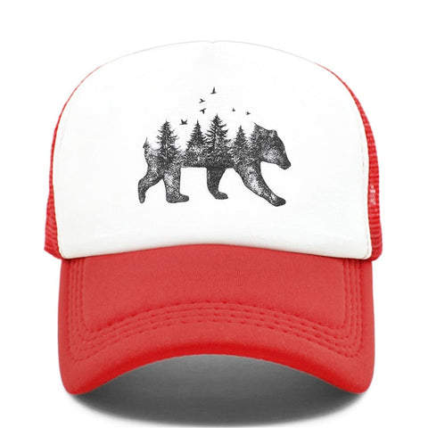 Casquette Ours<br> Truckers - Rouge
