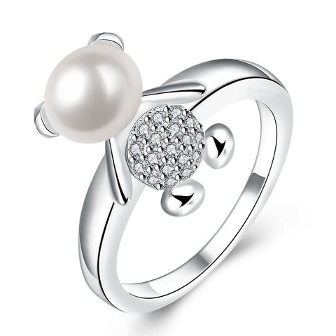 bague ours perle