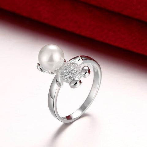 Bague Ours<br> Perle