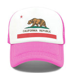 casquette california ours rose