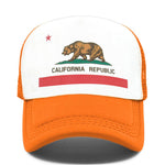 casquette california ours orange