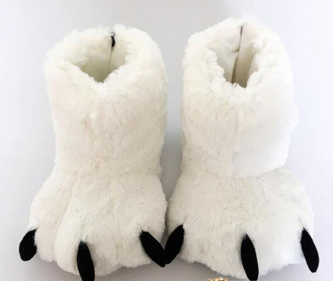 chausson pattes d'ours blanc
