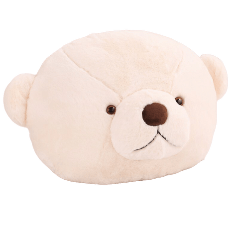 coussin tete d'ours polaire