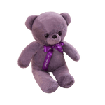 Peluche ours<br>34 cm Violet - ours