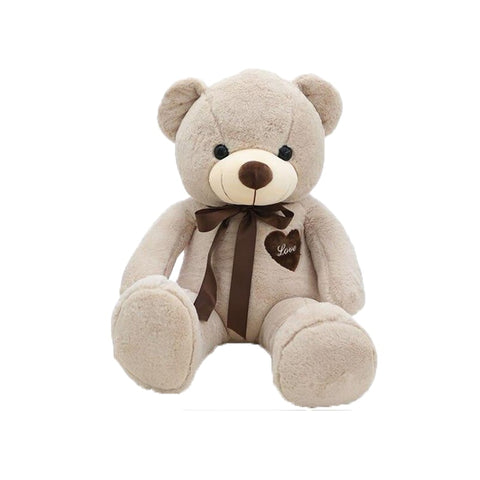 peluche ours beige 100 cm
