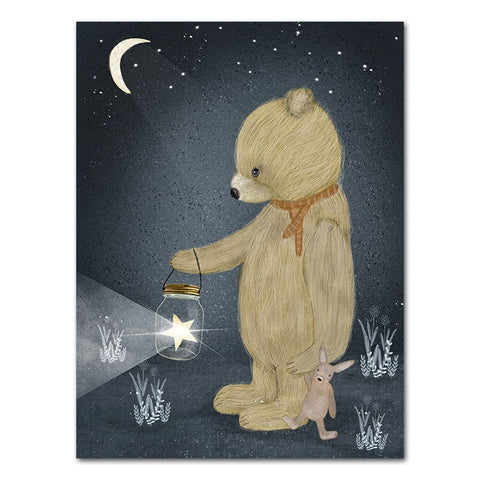 Toile ourson 60x90cm - ours