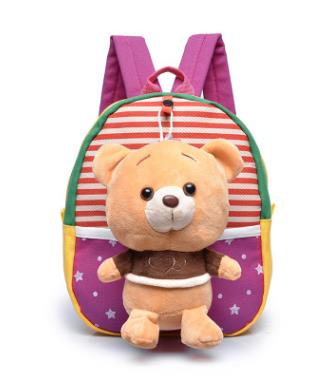 Sac a dos ours en peluche<br> Sunny rose