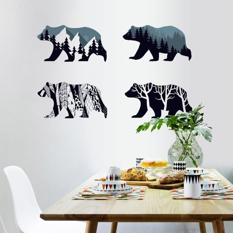 stickers muraux ours
