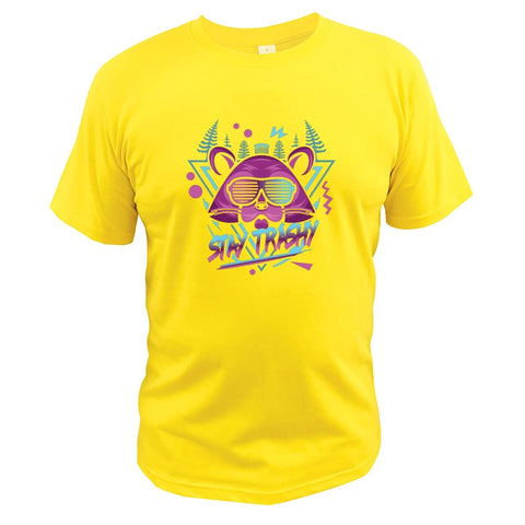t-shirt ours jaune