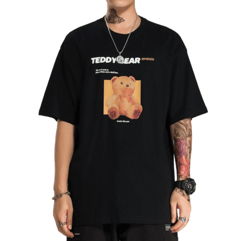 t-shirt teddy bears - noir
