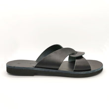 Load image into Gallery viewer, Leather handmade sandal black
