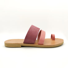 Laden Sie das Bild in den Galerie-Viewer, Leather handmade sandal pink