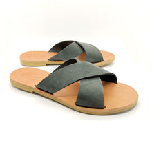 Load image into Gallery viewer, Leather handmade sandal gray
