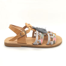 Load image into Gallery viewer, Leather handmade sandal nude gray pink