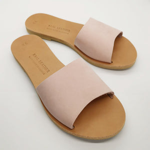Leather handmade sandal pink