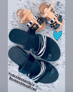 Leather handmade sandal for mother and daughter