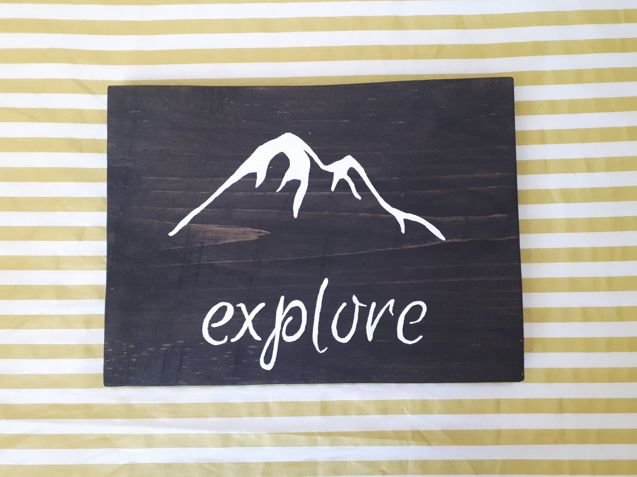 Wooden Explore Sign