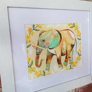 Wildflower Elephant Print